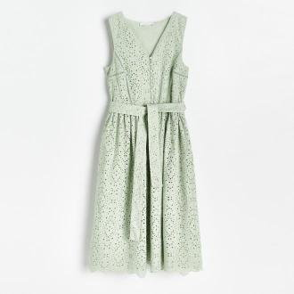Reserved - Ażurowa sukienka - Zielony