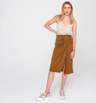 Damska drapowana spódnica