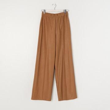 Sinsay - Spodnie z imitacji skóry - Brązowy
