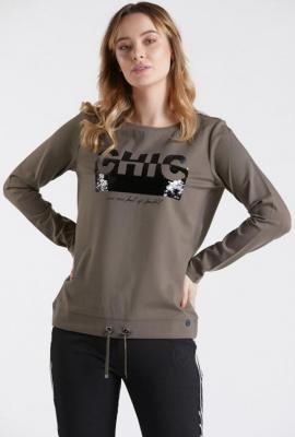 Bluza z ozdobnym panelem
