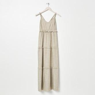 Sinsay - Sukienka maxi w paski - Wielobarwny