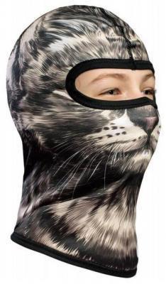 Ocieplana Dziecięca Kominiarka termoaktywna 3D - Kot Snow