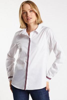 Koszulowa bluzka z lampasami