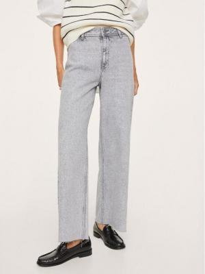 Mango Jeansy Catherin 17013767 Szary Relaxed Fit