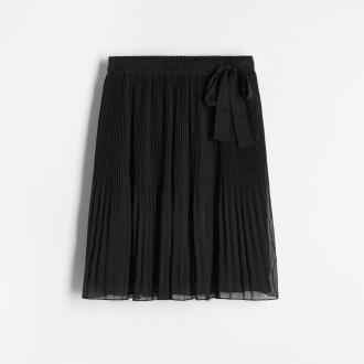 Reserved - Plisowana spódnica mini - Czarny