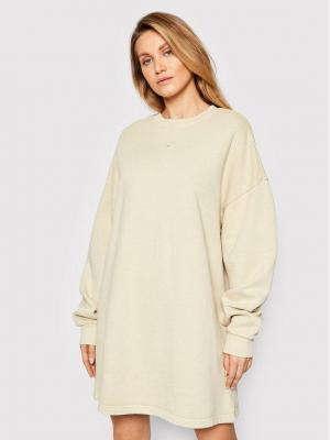 Reebok Sukienka dzianinowa Classics Natural Dye GN4594 Beżowy Oversize