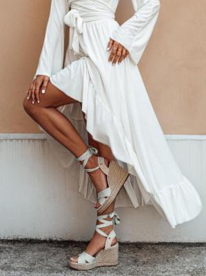 Spódnica damska 008GLR - biała - one size