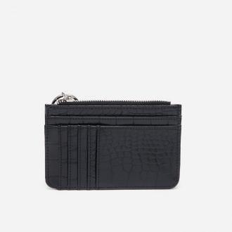 House - Mały portfel z imitacji skóry węża - Czarny