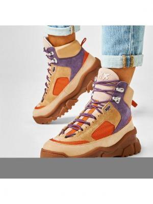 Pinko Sneakersy Love Trek High 2 AI 20-21 PBKSH 1P21XZ Y6PV Brązowy
