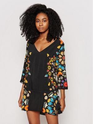 Desigual Sukienka plażowa Maui 21SWMW21 Czarny Regular Fit