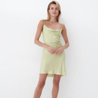Mohito - Bieliźniana sukienka z wiskozy - Zielony