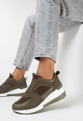 Oliwkowe Sneakersy Kysima