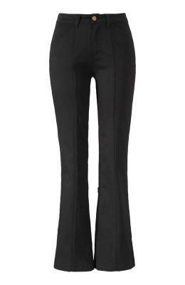 Cellbes Spodnie typu bootcut ze szwami ozdobnymi Czarny