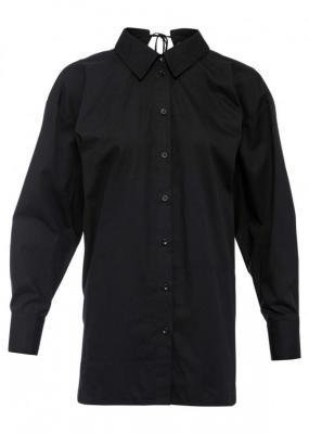 Długa bluzka z ozdobnym sznurowaniem z tyłu bonprix czarny