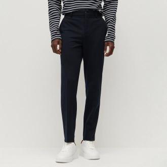 Reserved - Eleganckie spodnie super slim fit - Granatowy