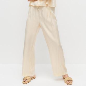 Reserved - Spodnie typu wide leg - Żółty