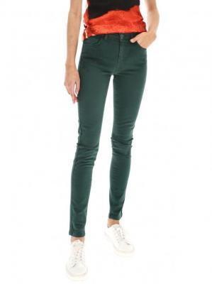 Zielone wąskie spodnie Desigual AINA REP