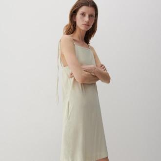 Reserved - PREMIUM Sukienka z lnu i EcoVero™ - Zielony