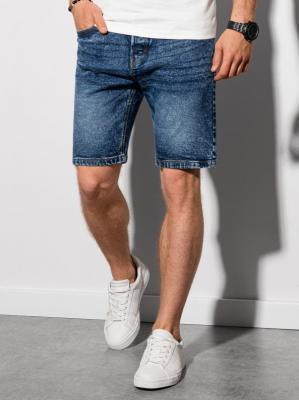 Krótkie spodenki męskie jeansowe W305 - niebieskie - XXL