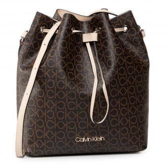 Torebka CALVIN KLEIN - Drawstring Bucket Bag Monogram  K60K606477 0HD