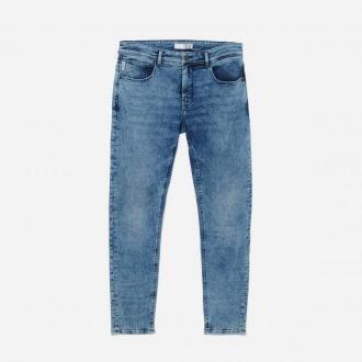 House - Jeansy slim fit basic - Niebieski