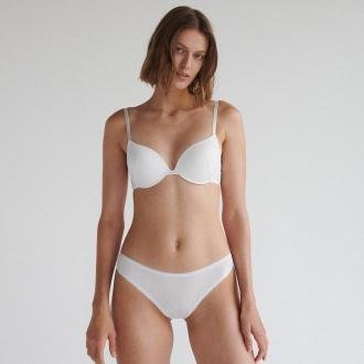 Reserved - Prążkowane majtki typu bikini 2 pack - Kremowy