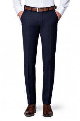 Spodnie Granatowe Flanelowe Diego