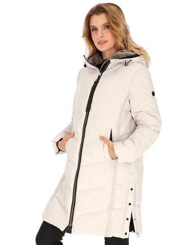 Pikowana zimowa kurtka z kapturem District Headline