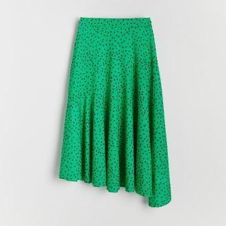 Reserved - Rozkloszowana spódnica midi - Wielobarwny