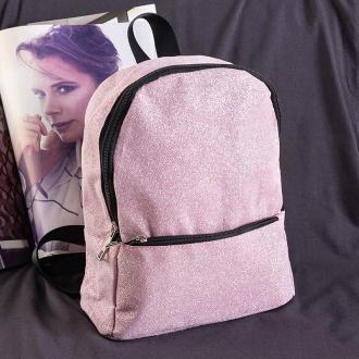 Brokatowy mini plecak w kolorze różowym - Plecaki