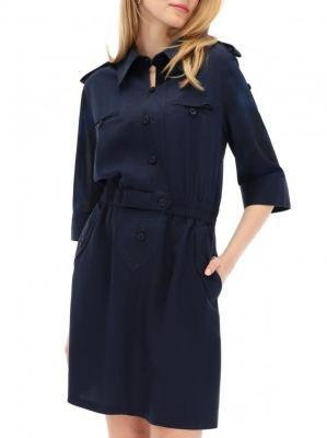 Granatowa koszulowa sukienka Desigual IRENE