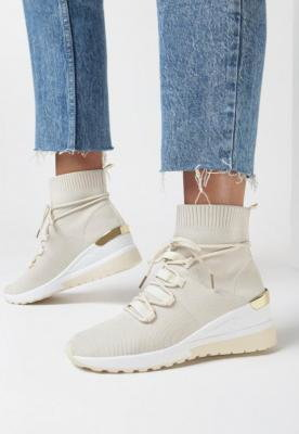 Beżowe Sneakersy Eremiel