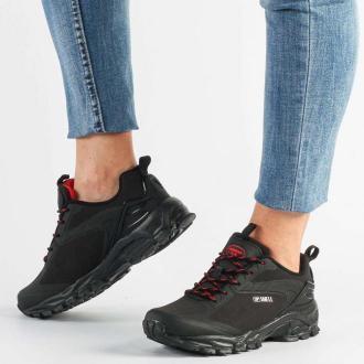 Czarne buty trekkingowe AMERICAN HL18/21 RD