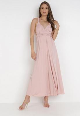 Jasnoróżowa Sukienka Adratai