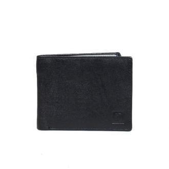 portfel skórzany czarny z niebieskim wnętrzem