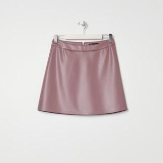 Sinsay - Spódnica mini z imitacji skóry - Fioletowy