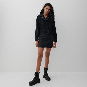 Reserved - Denimowa spódnica mini - Czarny