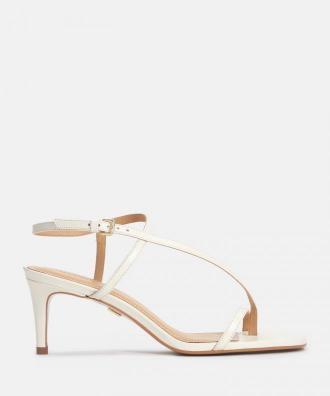 Sandały damskie w kolorze złamanej bieli