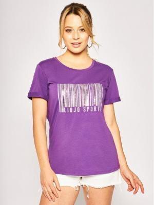 Liu Jo Sport T-Shirt TA0134 J5003 Fioletowy Regular Fit