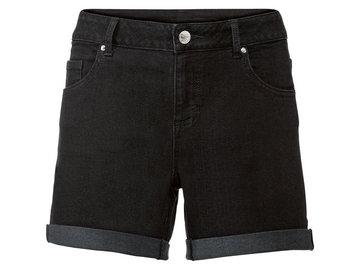 ESMARA® Szorty jeansowe damskie, 1 para (46, Czarny)