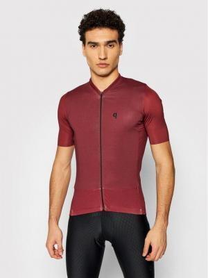 Quest Koszulka rowerowa Adventure Bordowy Slim Fit