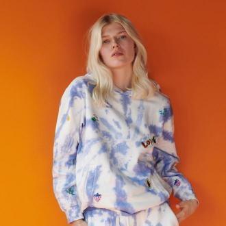 Reserved - Bluza tie-dye z bawełny organicznej - Wielobarwny