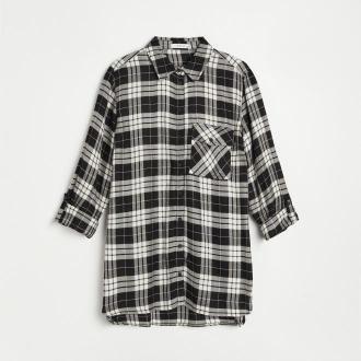 Reserved - Koszula w kratę - Czarny