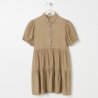 Sinsay - Sukienka koszulowa - Zielony