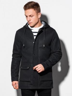 Płaszcz męski wiosenny C454 - czarny - XXL