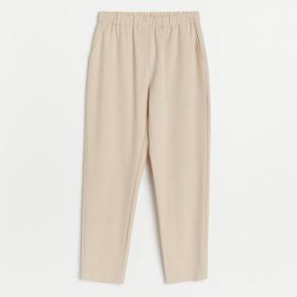 Reserved - Spodnie jogger - Beżowy