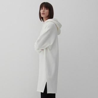 Reserved - Sukienka z dresowej dzianiny - Biały