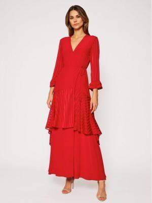 Pinko Sukienka wieczorowa Zuccherino 20201 BLK01 1G14RJ Y639 Czerwony Regular Fit