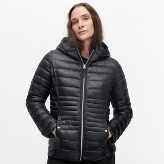 Reserved - Pikowana kurtka z wypełnieniem z recyklingu - Czarny