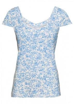 Shirt bonprix jasnoniebiesko-kremowy